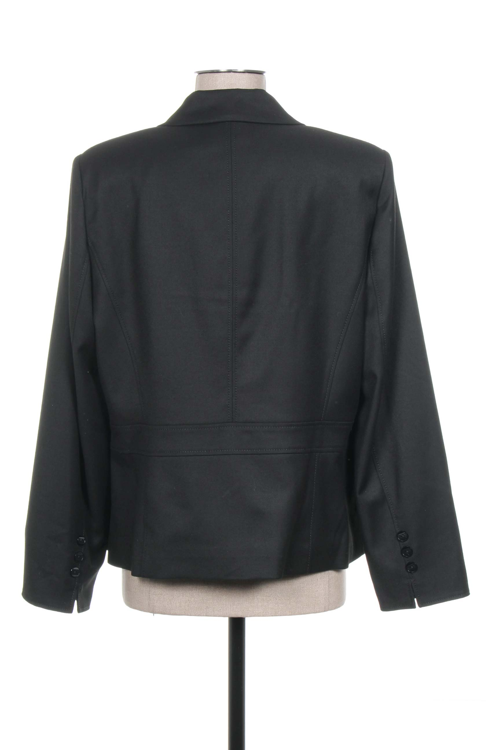 Pauporte Vestecasual Femme De Couleur Noir En Soldes Pas Cher 1184203-noir00