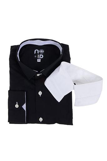 no id chemises homme de couleur noir