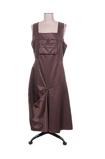 Robe longue marron CAROLE RICHARD pour femme