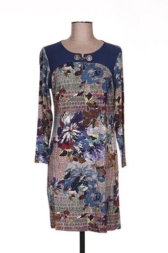 Robe mi-longue bleu BARANDI pour femme