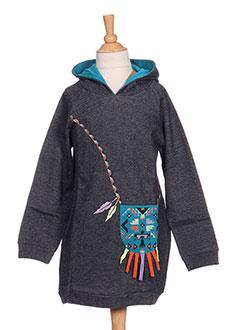 Robe mi-longue bleu MILK ON THE ROCKS pour fille