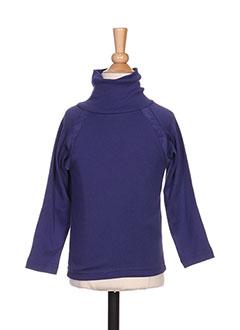 T-shirt manches longues violet MILK ON THE ROCKS pour fille
