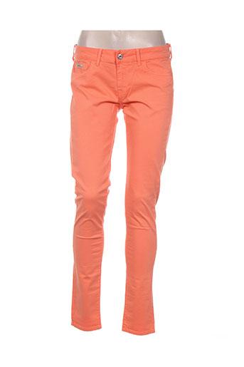 pepe jeans pantalons femme de couleur orange