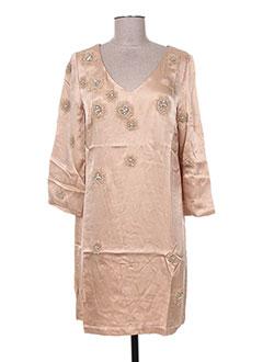 Robe courte beige MINE DE RIEN pour femme
