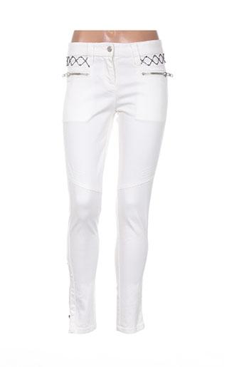 nina kaufmann pantalons femme de couleur beige