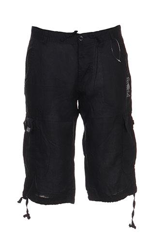 kilwox shorts / bermudas homme de couleur noir