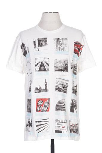 seaport t-shirts homme de couleur blanc