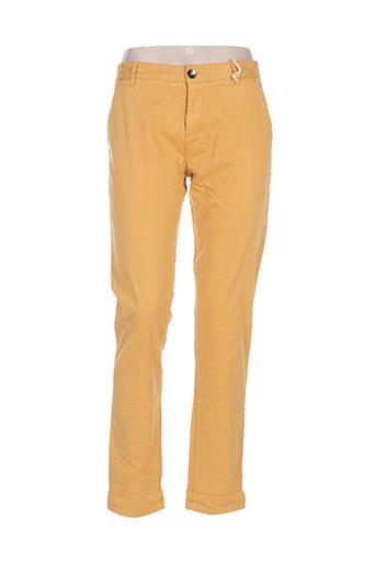 ddp pantalons femme de couleur jaune