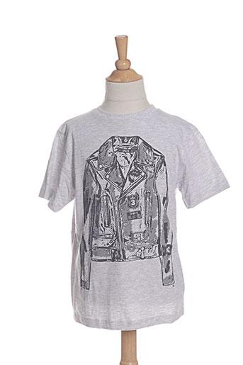 3 pommes t-shirts garçon de couleur gris