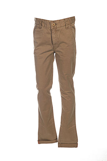 kaporal pantalons garçon de couleur marron
