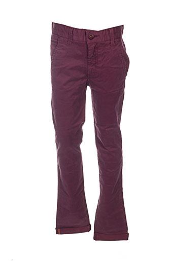 kaporal pantalons garçon de couleur rouge