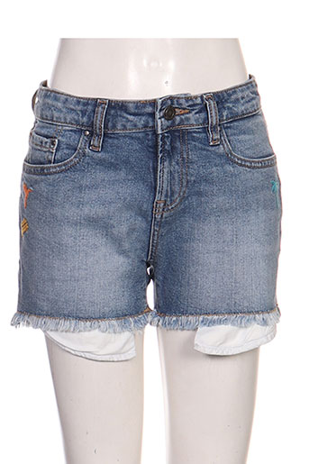 teddy smith shorts / bermudas fille de couleur bleu