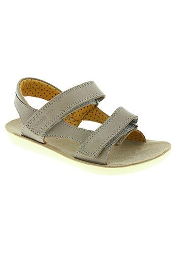 shoo pom chaussures enfant de couleur gris