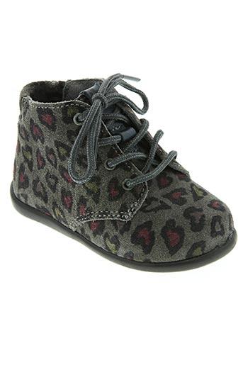babyboum chaussures fille de couleur gris