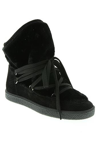 reqins chaussures fille de couleur noir