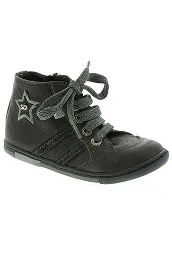 stones and bones chaussures garçon de couleur noir