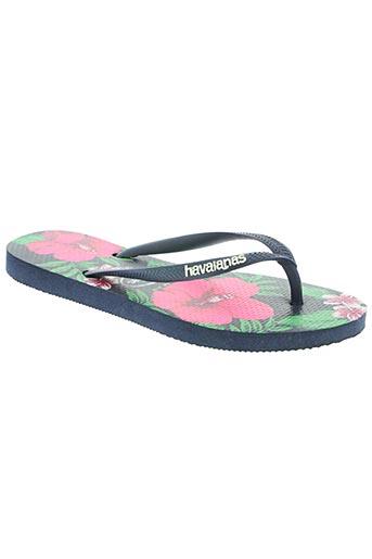 havaianas chaussures femme de couleur bleu