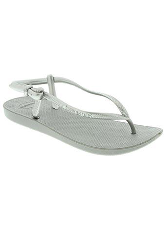 havaianas chaussures femme de couleur gris
