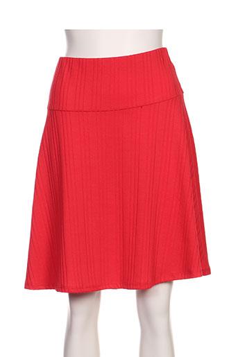 surkana jupes femme de couleur rouge