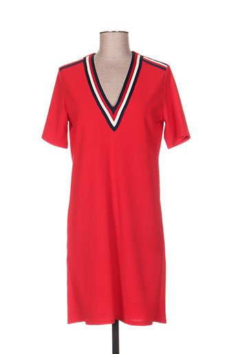 quinze heures trente robes femme de couleur rouge