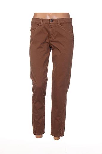 Pantalon 7/8 marron DIANA GALLESI pour femme