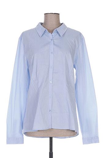 ichi chemises femme de couleur bleu