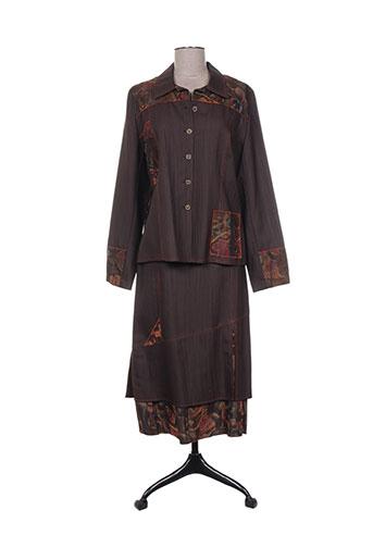 gevana ensembles femme de couleur marron