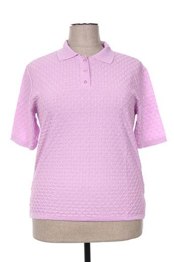 bonneterie creusoise t-shirts femme de couleur violet