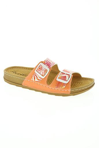 podowell chaussures femme de couleur orange