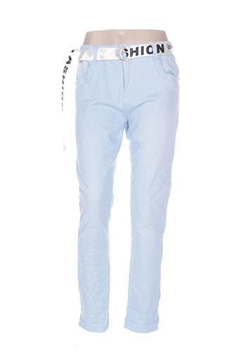 mozzaar pantalons femme de couleur bleu