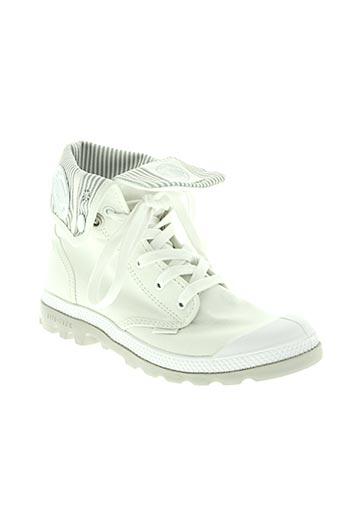 palladium chaussures femme de couleur blanc