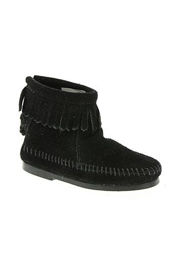 minnetonka chaussures fille de couleur noir