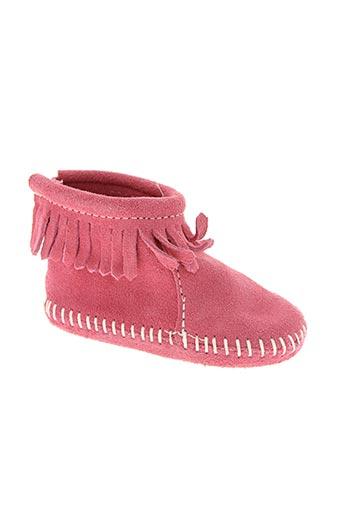 minnetonka chaussures fille de couleur rose