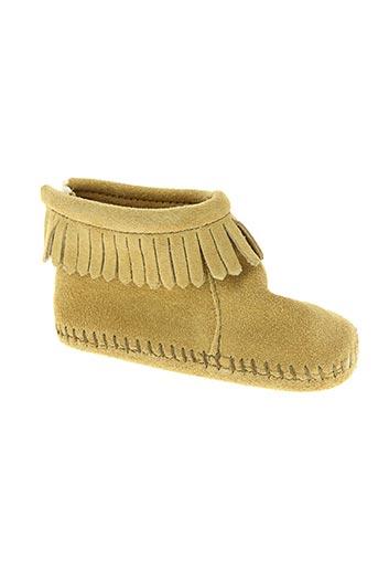 Chaussons/Pantoufles beige MINNETONKA pour enfant