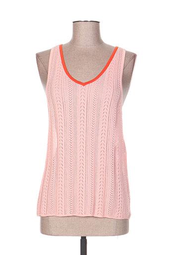 tara jarmon t-shirts femme de couleur rose