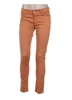 Pantalon casual orange CHEFDEVILLE pour femme