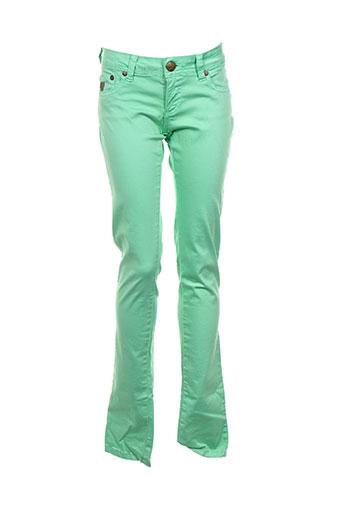 lois pantalons femme de couleur vert
