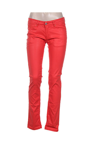 Pantalon casual rouge CHEFDEVILLE pour femme