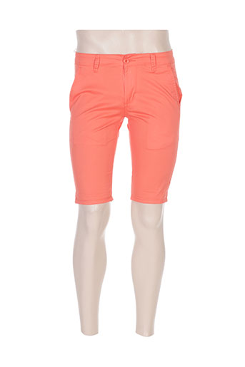 leeyo jeans shorts / bermudas homme de couleur orange