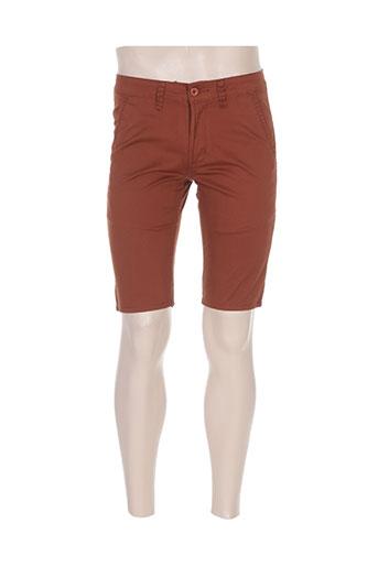 leeyo jeans shorts / bermudas homme de couleur marron