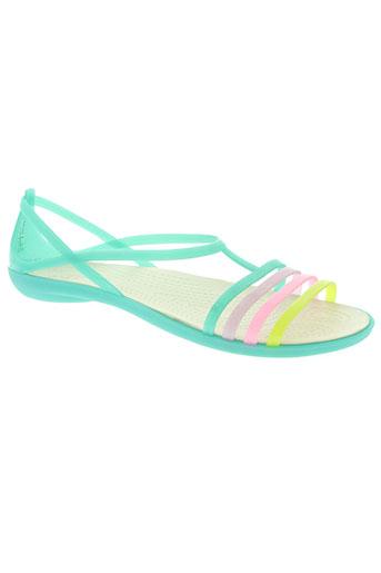crocs chaussures femme de couleur vert