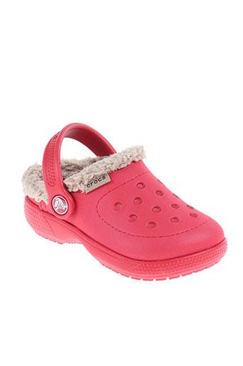 crocs chaussures enfant de couleur rouge