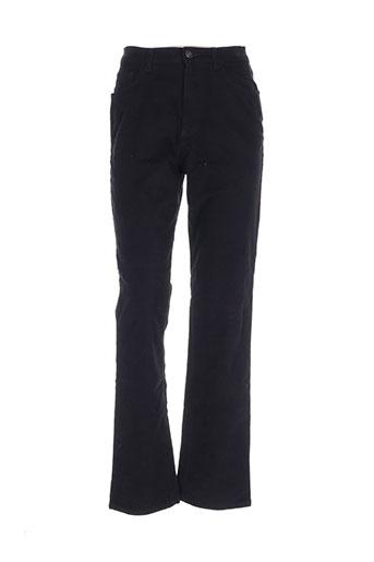 brigitte saget pantalons femme de couleur noir