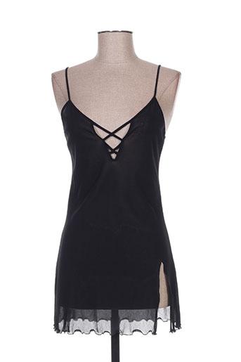 lingerie elizabeth nuit femme de couleur noir