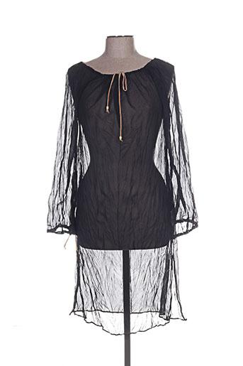 Tunique manches longues noir CLOTHES pour femme