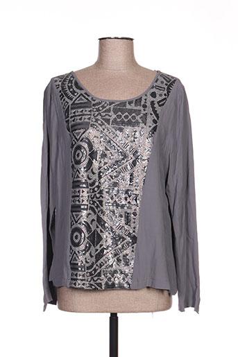 expresso chemises femme de couleur gris