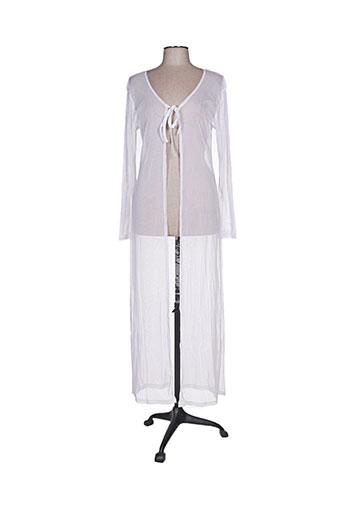 Gilet manches longues blanc COLLOSEUM pour femme