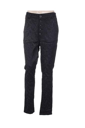funaki pantalons femme de couleur noir