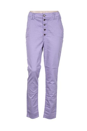 funaki pantalons femme de couleur violet