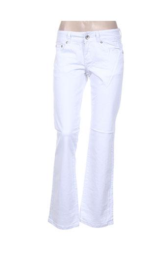 funaki jeans femme de couleur blanc